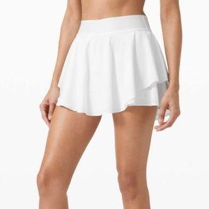 Lululemon NWT Court Rival High Rise Skirt White